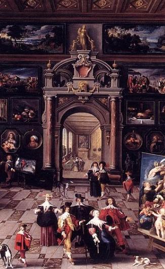 La galería del coleccionista (1635, Cornelis de Baellieur).
