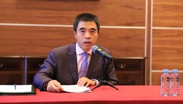 El ministro consejero de la embajada china en España, Sr. Yao Fei, en la rueda de prensa.