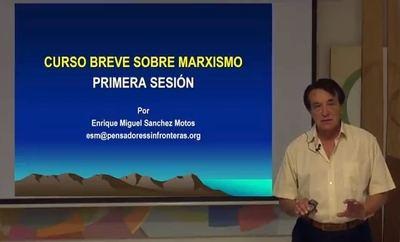 El autor del Curso Breve sobre el Marxismo, nuestro insigne colaborador Enrique Sánchez Motos.