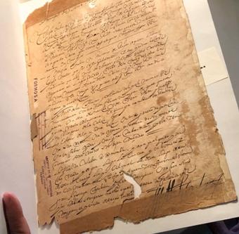 Uno de los interesantes legajos sobre referidos a Formosa que la Orden de los Dominicos conserva en el Archivo Provincial de Santo Tomás de Avila.