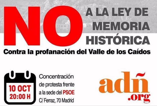 Convocan una manifestación frente a la sede del PSOE en Ferraz