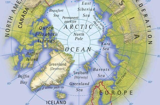 Desde el punto de vista continental ¿Es más europea o americana la gran isla de Groenlandia? Una vista al mapa del Polo Norte coloca Groenlandia como un espacio geoestratégico de primer orden que Dinamarca no puede gestionar.