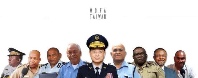 Un momento del video en el que oficiales de cuerpos de seguridad extranjeros apoyan la participación de Taiwan en la INTERPOL. (Foto del Ministerio de Relaciones Exteriores de Taiwán).