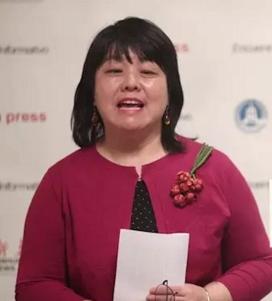 La corresponsal de la Agencia de Noticias Xinhua de China en España, Junwei Feng, durante la presentación del servicio de Xinhua y su acuerdo con Europa Press. (EDUARDO PARRA/ EUROPA PRESS)