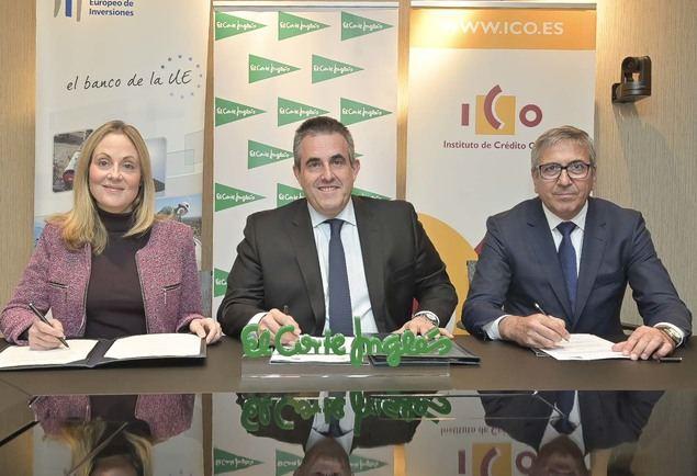 El BEI, el ICO y El Corte Inglés firman un acuerdo para impulsar las inversiones en innovación y digitalización de la empresa española