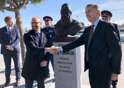 Rusia inaugura el busto de su primer Embajador en España, Piotr Potiomkin