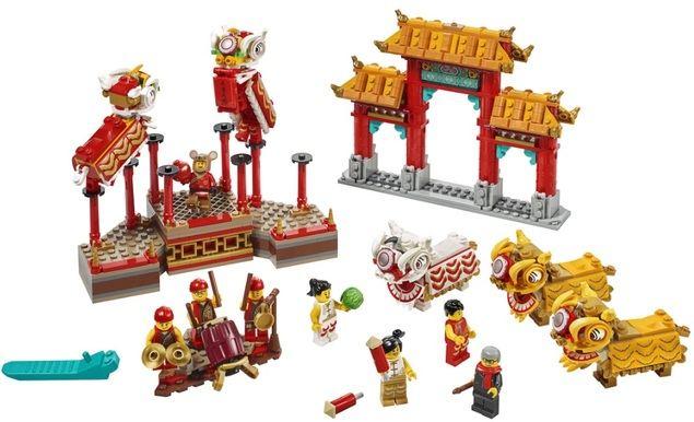 LEGO lanza dos sets dedicados al Año Nuevo Chino: la Danza del León y la Feria del Templo
