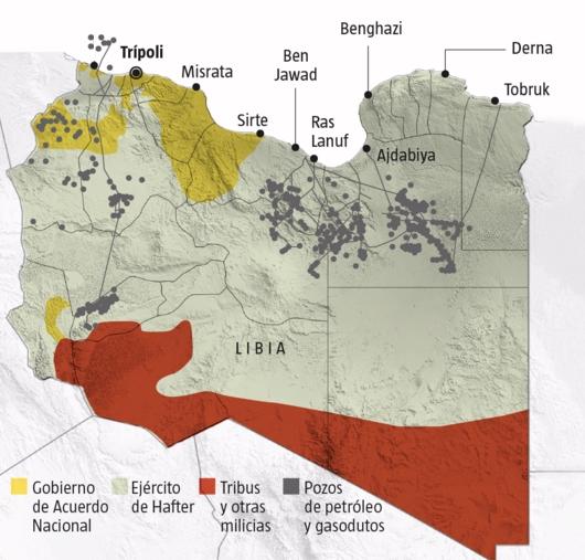 El reparto de Libia