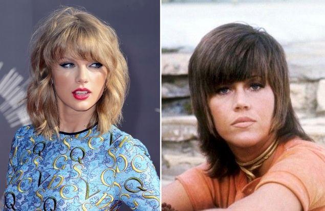 La cantante Taylor Swift y el mítico shag de Jane Fonda en su época más rebelde y contestataria