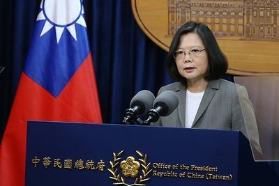 La presidenta taiwanesa, Tsai Ing-wen.