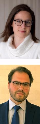 En la foto, abajo, Alvise Lennkh, arriba,  Giulia Branz, analistas de Scope Ratings.