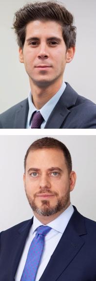 Arriba, Guillermo Uriol Sanz, gestor de Ibercaja Gestión, debajo, Nabil El-Asmar Delgado, Country Head de Vontobel AM para Iberia.