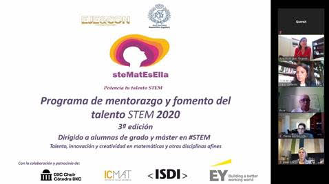 EJE&CON, RSME e ICMAT presentan la tercera edición del Programa #steMatEsElla