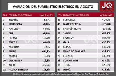 Eleia lidera el crecimiento en el sector electrico español