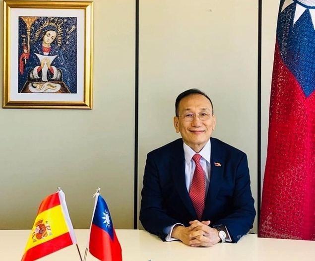 El Embajador José María Liu durante su discurso con motivo de la celebración del Día Nacional de Taiwán.