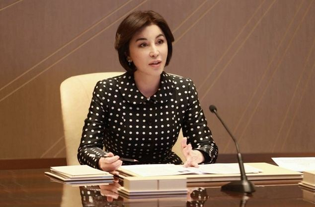 La presidenta de la Fundación Pública Internacional Zamin, Doña Ziroat Mirziyoyeva.