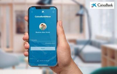 Imagen de la aplicación móvil CaixaBankNow.