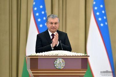 El Presidente de la República de Uzbekistán Shavkat Mirziyoyev.