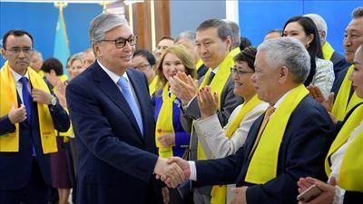 Kassym-Jomart Tokayev ganó las elecciones presidenciales de Kazajistán el mes de junio de 2019. (Foto: Agencia Anadolu).