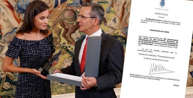 La Reina Letizia, Presidenta de Honor de la facultad donde estudió Periodismo
