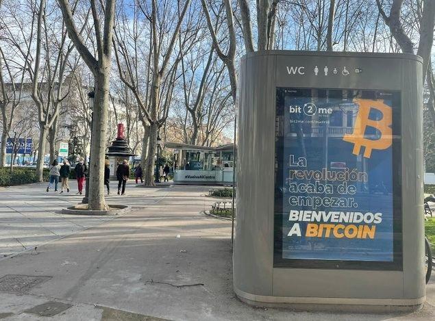 Bitcoin inunda las calles de Madrid