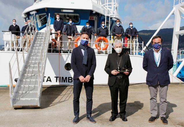 """Nueva Pescanova celebra la entrega del """"Ponta Timbue"""", su nuevo buque para Mozambique"""