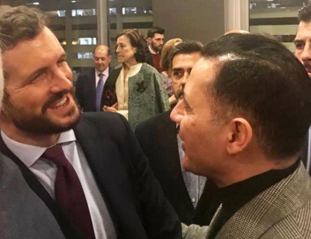 Nacho Jacob junto al líder del Partido Popular, Pablo Casado.