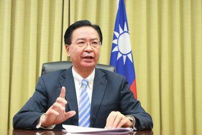 El ministro de Relaciones Exteriores, Jaushieh Joseph Wu, durante el Foro Sedona. (Foto del Ministerio de Relaciones Exteriores)