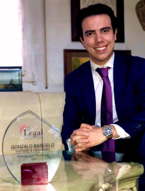 Gonzalo Barceló, abogado en Cremades & Calvo-Sotelo,  Best Young Lawyer of the Year 2020 por Acquistion International.