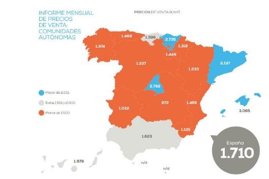 El precio de la vivienda sube en España un 0,71% frente al año pasado
