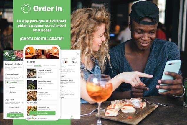 Order In: Carta digital QR gratis con opción de pedir y pagar por el móvil para ampliar el ticket medio de los restaurantes