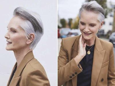 Este verano... apúntate al cabello gris corto o muy corto