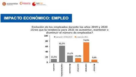 En 2020 se produjo una caída del empleo. El 25,2% redujo su empleo. Más desfavorable en microempresas
