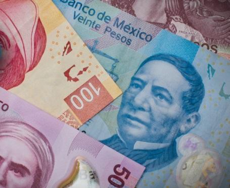 El peso mexicano toma ventaja por tercera jornada consecutiva