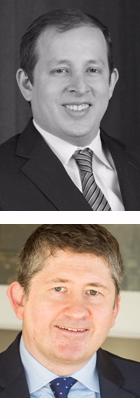 Encima, Jared Franz, economista estadounidense de Capital Group, debajo, Jeremy Cunningham, director de inversiones.