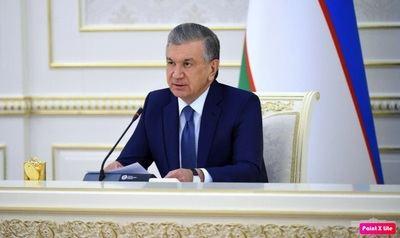 El presidente de Uzbekistán, Shavkat Mirziyoyev.