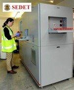 El equipo de detección de explosivos de SEDET, desarrollado íntegramente en España, está listo para su comercialización y se presentará en la feria londinense TRANSEC 2012.