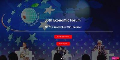30th Economic Forum - September 7-9 in Karpacz, Poland