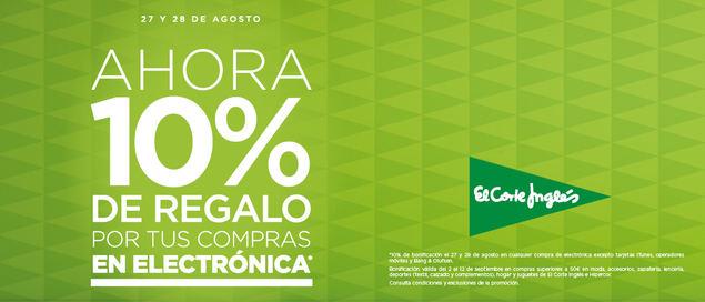 """El Corte Inglés hace """"Tu vuelta más fácil"""" con un 20% de regalo en gran consumo y un 10% en electrónica"""