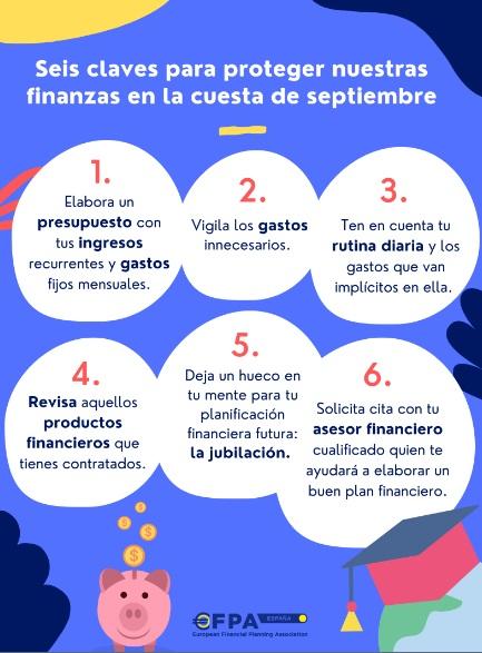 Seis claves para proteger nuestras finanzas en la cuesta de septiembre