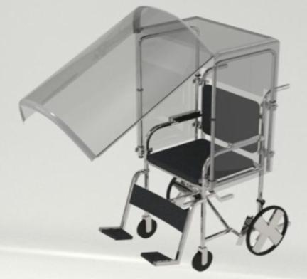 Ceden la patente que protege frente al covid19 a usuarios de silla de ruedas