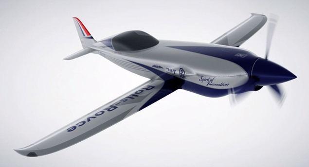 El Spirit of Innovation, avioneta eléctrica de Rolls-Royce.