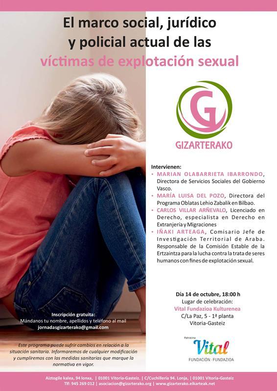 Vitoria, sede en octubre de dos jornadas contra la prostitución y explotación sexual
