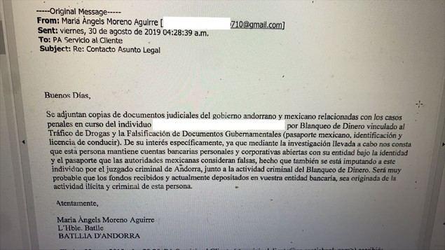 Una jueza andorrana utiliza su cuenta de e-mail privado en perjuicio de difamación